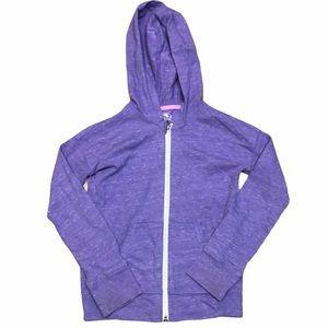 Athletic Works Purple Full Zip Hooded Sweater